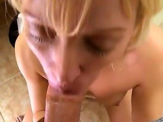 Tall slut Carolina Belle desperately sucking my dick like it is the last blowjob in her whoring life