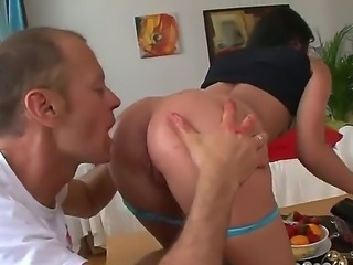Tina Gabriel gets her anal stuffed with strawberries before getting it licked off by Rocco Siffredi