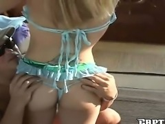 Smoking hot blonde bitch Diana screams as she is banged by a hard pulsating...