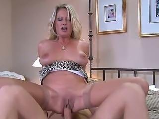 Busty milf Bridgette Lee enjoys having a wild fuck with horny male Danny Wylde