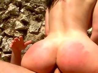 Busty babe Angel Summers is outside fucking with her friend Manuel Ferrara....