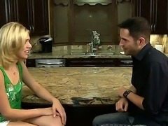 Lia Lor talks with her her friends husband and wants to make him entirely...