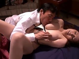 Big tits asian chick Yuna Shiina gets hard pounded in amazing hardcore scene