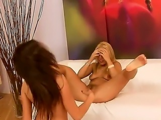 Hi all fans of hot lesbian porn. Get delight with these two lesbo chicks...