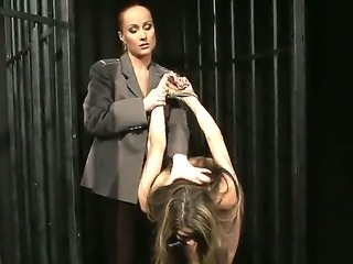 Lillandra is getting punished by sexual and naughty mistress Katy Parker. The dominant woman ties up the enslaved chick before starting to put metallic clamps on her nipples.