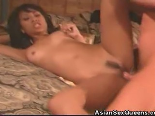 We have this nasty asian babe in this clip as as she gets fucked hard by her man. Watch as our asian babe rides that cock like a champ and afterwards she is smeared with warm cum