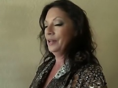 Adorable milf with delicious boobies knows lots of cool positions and wants...