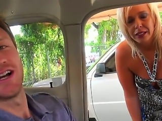 Amazing shameless blonde MILF whore was picked up and was doing wild things with lucky guy