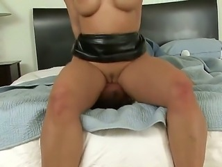 Luxurious woman with perfect ass and breasts Kelly Divine rides up face of man and orders him to start licking her holes. He plays with twat and ass of the diva so well.