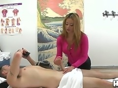 Cute Asian masseur Mia Lelani gets paid by Romeo Price for a bit of her tits...