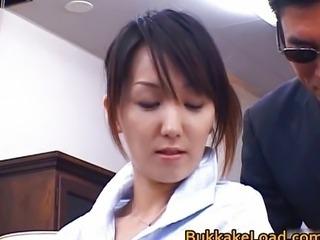 Sexy real asian Shiho getting jizz