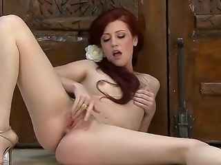 This amazing redhead babe with pale body has only 19 years old. Her alluring eyes makes me erected, but her pussy and amazing ass make me crazy.