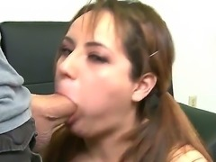 Take a look at provocatibe and lickerish chick Rosalie Ruiz showing her deep throat skills