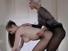 19yo schoolmate gets fuck from strap on