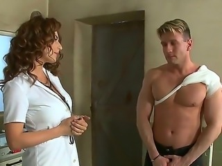 Inmate Choky Ice is giving sexy nurse Roberta Gemma the best fucking session of her life
