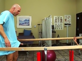 Johnny Sins thinks it is all over for his poor dick. It doesnt work anymore. But slutty nurse Eden Adams comes for help and revives his big cock. Johnny is so thanful he fucks her in all the holes.