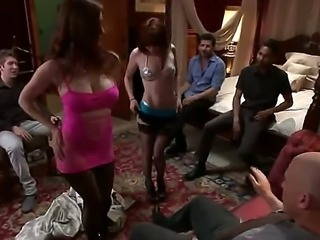Good old classic sex in the vintage room with amazing whores that is what i really love and choose! Just look at those bitches with stocking on their legs.