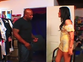 Brunette Taisa Banx gets hard pounded by black dude with huge monster cock