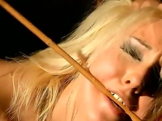 Hardcore BDSM scene with a poor and gorgeous blonde named Valerie Follass