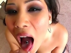 Always horny cock addicted black haired asian whore Jessica Bangkok sucks...