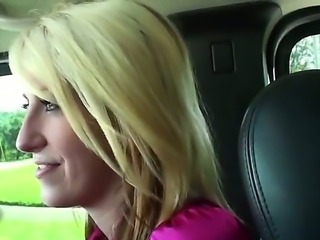 Stunning blonde milf is invited to the car for some wild and naughty pleasurings