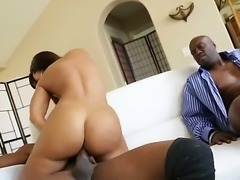 Gorgeous and stunning brunette Lisa Ann meets two black boys Lexington Steele...