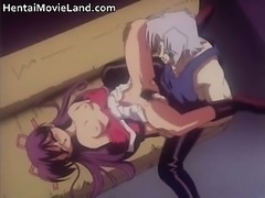 Amazing anime hottie gets bound and her