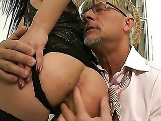 Christoph Clark knows how to take advantage of slutty girls like Abbie Cat and she is ready to do whatever he tells her. She is ready to lick his cock, balls and even his asshole!