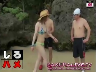 Hot Japanese Beach Teens Fucked