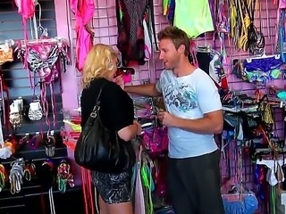 This girl from lingerie shop couldnt stay unnoticed by Levi  our pussy hunter. The cleavage between her ample tits was like a beeping green spot on his radar. He had to fuck her!