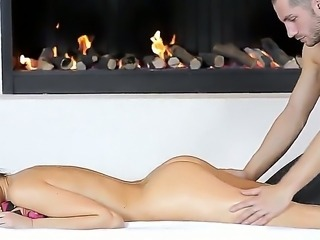 Mia got a sweet and gentle massage of her sweet holes before amazing blowjob