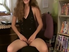 Skinny girl Isabella in a newcomer but she wants to achieve great level in...