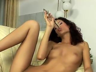 Just take a look at this, horny amateur slut from Europe masturbates her...