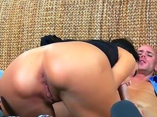 Brunette Breanne BEnson enjoys wierd and nasty hardcore fuck with Johnny Sins