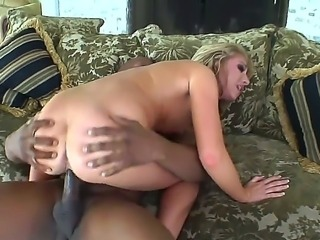 There are moments in this classy interracial sex scene when you start suspecting that Jaelyn Fox is about to faint because the cock inside her is too huge but Shes a strong girl!