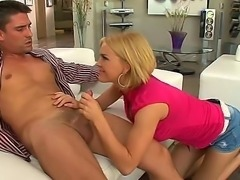 This insanely hot Hollywood pornstar Krissy Lynn scores another cock to...