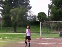 Carmella Bing and Phoenix Marie have definitely picked a perfect sport for themselves. Soccer is awesome choice because their tits look so much like soccer balls!