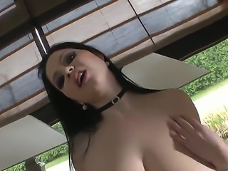 Provocative cock loving brunette whore Shione