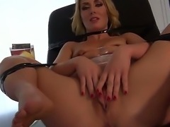 Blonde Dana Vespoli enjoys massive lesbian hardcore pounding along hottie...