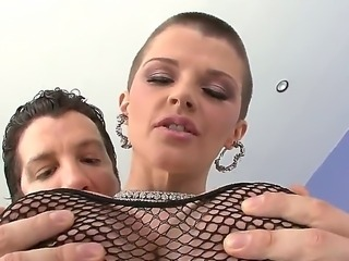 Enjoy hardcore scene with amazing freaky Joslyn James and her huge bouncing tits