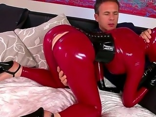 Latex Lucy and horny babe Katia D Lys are enjoying a hardcore threesome BDSM