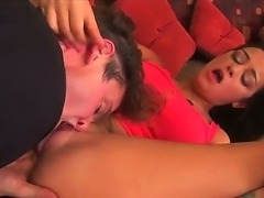 Sexy Angelina Valentine is getting her fresh pierced clits devoured by studs...