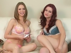 Emily Addison speaks frankly with her friend about things they like in sexual...
