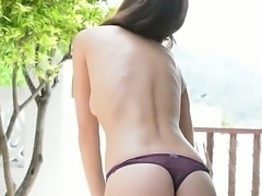 Cute brunette Candice Luca loving it as she caresses her pussy lips masturbating