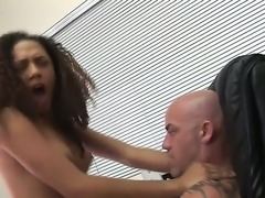 Sexual and very seductive brunette curly girl Mimi Allen is having...