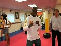 Crazy and hardcore kung fu..ck team with Gianna Michaels,Jessica Lynn and...