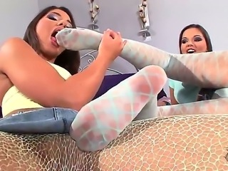Eve Angel and Zafira are the seductive young lesbians with the wonderful bodies and sexy boobs