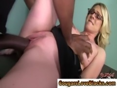 Horny interracial mature bitch gets a creampie free