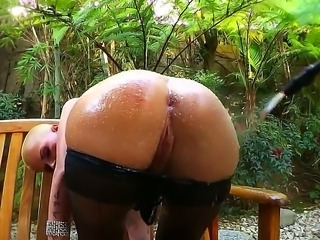 Perverted Erik Everhard makes a really nasty action with wet bubble butt of...