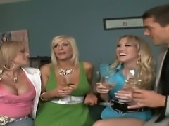Awesome gang bang of the one lucky guy Ramon Nomar, that is being nicely...